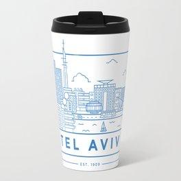 Tel Aviv line art Travel Mug