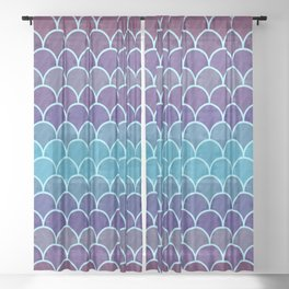 Watercolor Lovely Pattern VVIII Sheer Curtain
