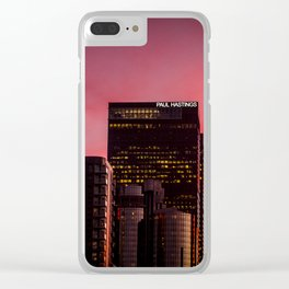 Skyscapes in Los Angeles Clear iPhone Case