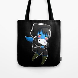 Fuzzy Chibi Luc (Expression 2) w/ Black Background (no cloud) Tote Bag