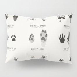 Infographic Guide for Animal Tracks (Hidden Tracks) Pillow Sham