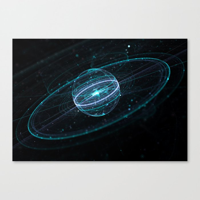 Space & Particles - GodEye 01 Canvas Print