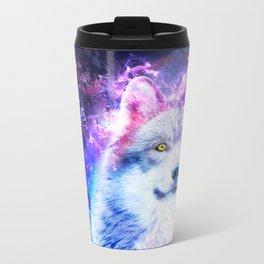 Cosmic Wolf Metal Travel Mug