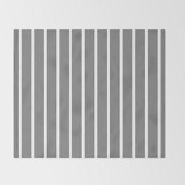Vertical Lines (White/Gray) Throw Blanket
