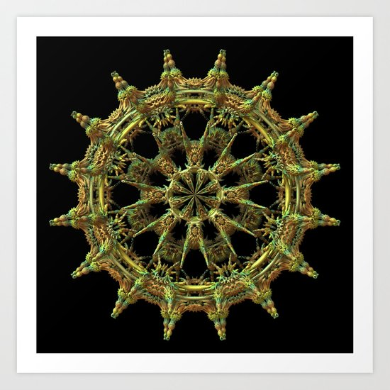 Ship's Wheel (3D Fractal) Art Print