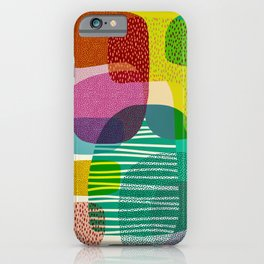 Grouping I Abstract Modern Art iPhone Case