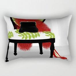A Woman's Night Out - Dressing room art Rectangular Pillow