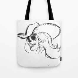 Day of the Dead Cowgirl Tote Bag