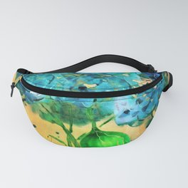 Blue Heaven Hydrangea by Barbara Chichester Fanny Pack