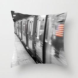 New York City Subway (Broadway Station) Throw Pillow