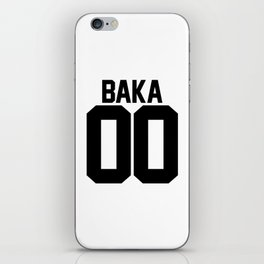 Team Baka Inspired Shirt iPhone Skin