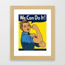Latina Rosie The Riveter Framed Art Print