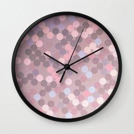 Polka Dots Geometry Wall Clock