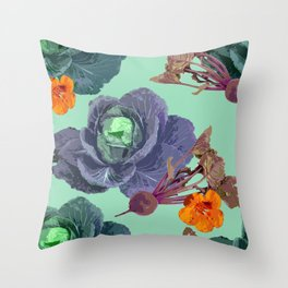 Cabbages Throw Pillow