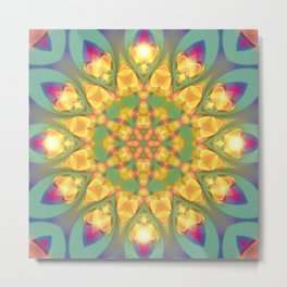 Magical Bohemian Sunflower Metal Print