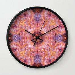 Cosmic Light Mandala Wall Clock