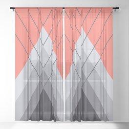 Iglu Living Coral Sheer Curtain