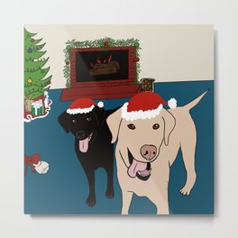 Labs Love Christmas! Metal Print