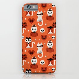 Halloween Kitties (Orange) iPhone Case