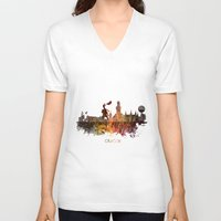 poland V-neck T-shirts featuring Cracow Poland by jbjart