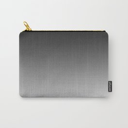 Black to White Horizontal Linear Gradient Carry-All Pouch