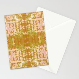 Olive Tie Dye Jacobs Ladder Stationery Cards