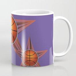 Basketball ball in the star Coffee Mug