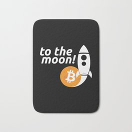 To the moon Bath Mat