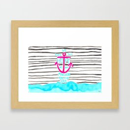 We Have This HOPE - Anchor (pink/blue) Framed Art Print