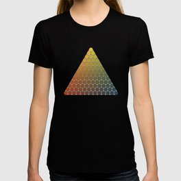 Lichtenberg-Mayer Colour Triangle vintage remake, based on Mayers' original idea and illustration T-shirt