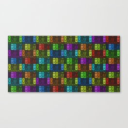 Tikis in a Rainbow of Colors! Canvas Print