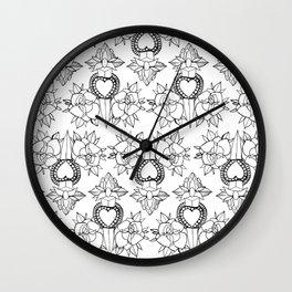 Tattoo design pattern Wall Clock