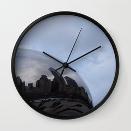 Cloud gate at Chicago Wall Clock