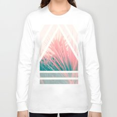 Pastel Palms into Triangle Long Sleeve T-shirt