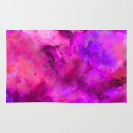 Abstract Pour Art - Pink and Purple Rug