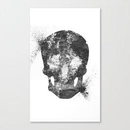 RIP White Skull Canvas Print