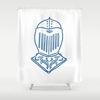 knight Shower Curtains featuring Knight by taichi_k