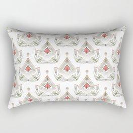 Geometric pattern . Colorful art Deco . No. 60, Rectangular Pillow