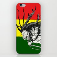 marley iPhone & iPod Skins featuring Rastalion Marley by Paula Savage