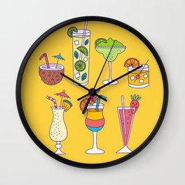 Tropical Libations Wall Clock