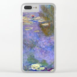Claude Monet Water Lilies Clear iPhone Case