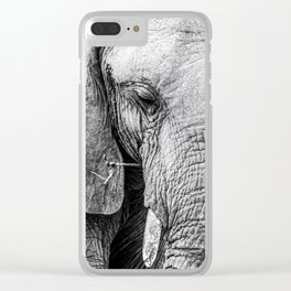 Elephant Wrinkles Clear iPhone Case