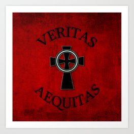 Veritas and Aequitas - Truth & Justice Art Print