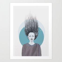 Mermaid tales Art Print