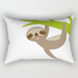 funny sloth Rectangular Pillow