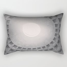 The Pantheon dome, architectural photography, Michael Kenna style, Rome photo Rectangular Pillow
