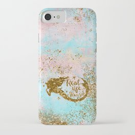 Faux Gold Glitter- REAL LIFE MERMAID On Sea Foam iPhone Case