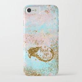 Faux Gold Glitter- REAL LIFE MERMAID On Sea Foam iPhone Case