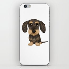 Wirehaired Dachshund | Cute Wire Haired Wiener Dog | Wild Boar and Tan Teckel iPhone Skin