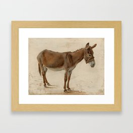 Donkey by Jacques-Laurent Agasse Framed Art Print